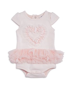 Miniclasix - Girls' Ruffled-Heart Bodysuit - Baby