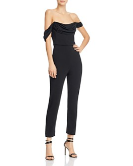 Cushnie - Strapless Tulle Drape Cropped Jumpsuit