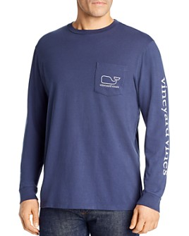 Vineyard Vines - Logo-Print Long-Sleeve Cotton Pocket Tee