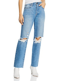 Alice and Olivia - Amazing High-Rise Boyfriend Jeans