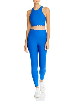AQUA - AQUA Scallop-Hem Crop Top & Scalloped Leggings - 100% Exclusive