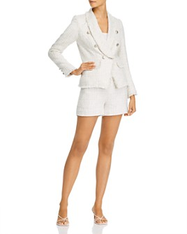 AQUA - Tweed Blazer & Shorts