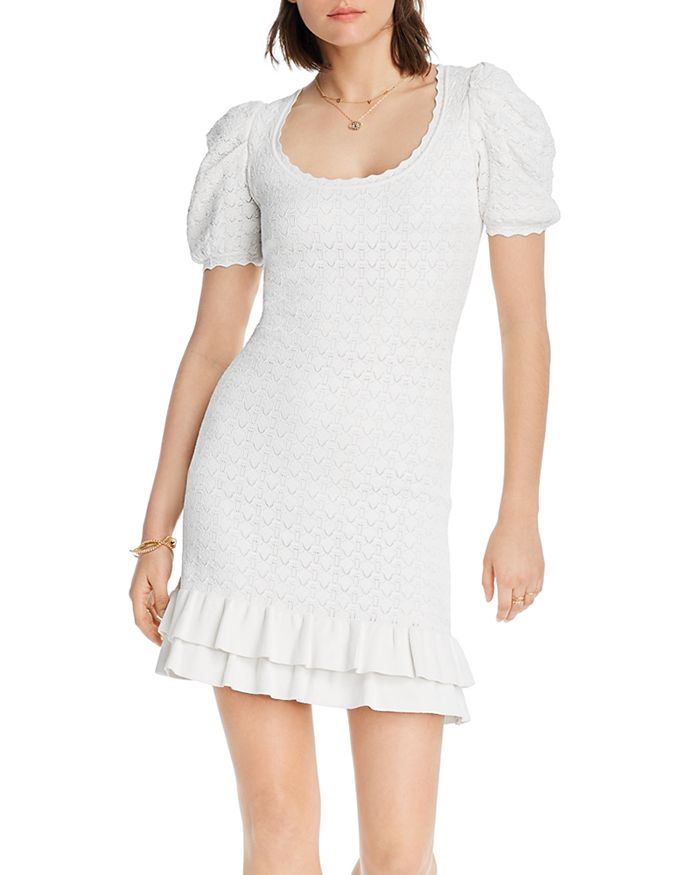 Lini Rebecca Ruffled Hem Knit Dress - 100% Exclusive In White
