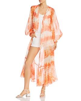 Rococo Sand - Tie-Dyed Kimono Dress