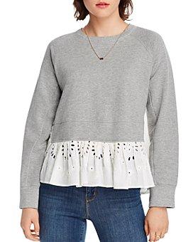 LINI - Claire Eyelet-Hem Sweatshirt - 100% Exclusive