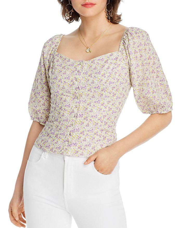 Lini Lacie Floral Print Blouse - 100% Exclusive In Lavender