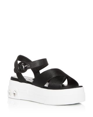 Miu Miu Women's Calzature Embellished Platform Sandals    Bloomingdale's