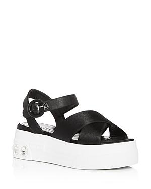 Miu Miu Women's Calzature Embellished Platform Sandals
