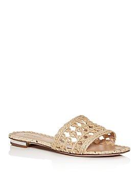 SCHUTZ - Women's Zaila Woven Slide Sandals