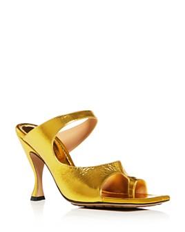 Bottega Veneta - Women's D'Orsay High-Heel Slide Sandals