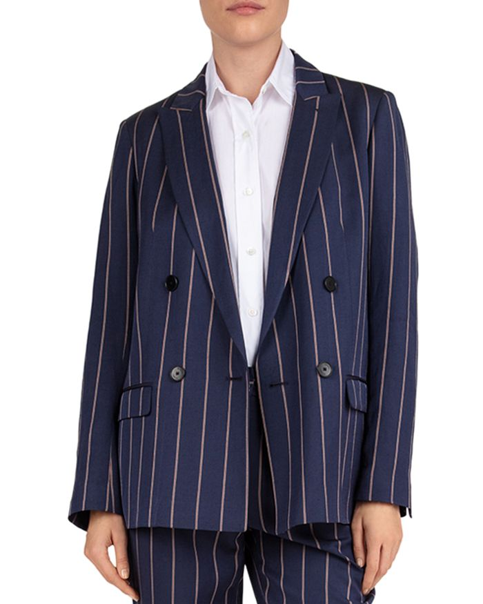 Gerard Darel - Striped Button-Front Blazer