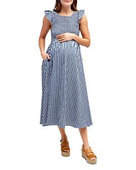 Nom Maternity - Harper Cotton Smocked Maternity Dress