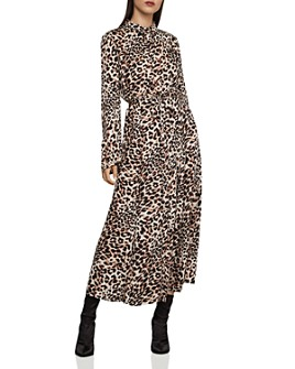 BCBGMAXAZRIA - Leopard Blouson Dress