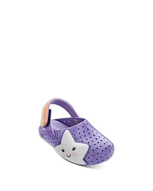 Mini Melissa Girls\\\' Star Mules with Glow In The Dark Sticker Pack - Walker, Toddler