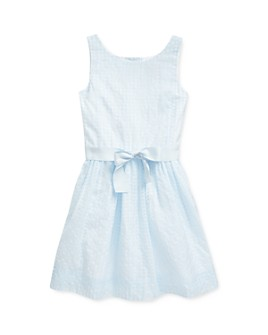 Ralph Lauren - Girls' Windowpane Dress - Little Kid