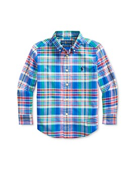 Ralph Lauren - Boys' Cotton Plaid Poplin Shirt - Little Kid
