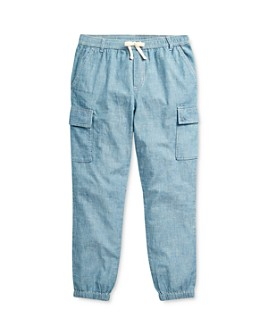 Ralph Lauren - Girls' Chambray Cargo Pants - Little Kid