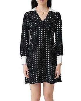 Maje - Randi Dotted Shirt Dress