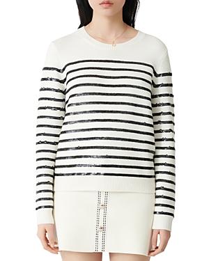 Maje Mystrip Sequined Striped Sweater-Women