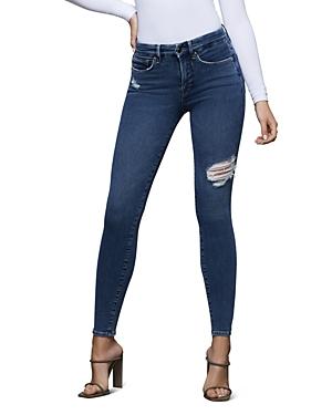 Good American Good Legs High-Rise Skinny Jeans in Blue371-Women