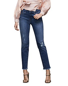 Good American - Good Straight High-Rise Straight Jeans in Blue407