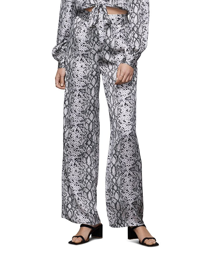 Good American - Snake-Print Wide-Leg Pants