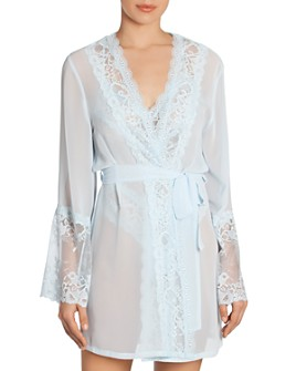 In Bloom by Jonquil - Lace-Trim Wrap Robe
