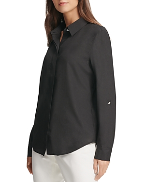 Dkny Concealed Button-Front Top-Women