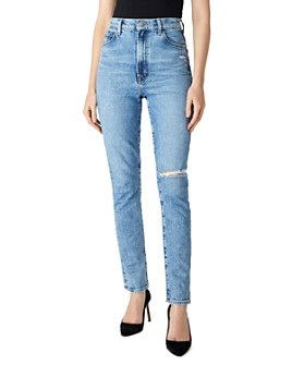 J Brand - 1212 Runway High-Rise Slim Jeans in Chadron Destruct