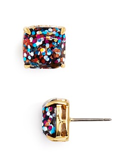 kate spade new york - Mini Square Glitter Stud Earrings