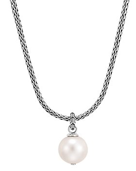 """JOHN HARDY - Sterling Silver Classic Chain Cultured Freshwater Pearl Pendant Necklace, 18"""" + 2"""" extender"""