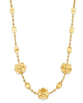 "Marco Bicego - 18K Yellow Gold Petali Flower 17.75"" Station Necklace - 100% Exclusive"