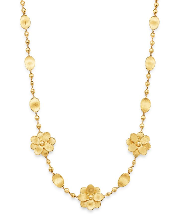 """Marco Bicego - 18K Yellow Gold Petali Flower 17.75"""" Station Necklace - 100% Exclusive"""