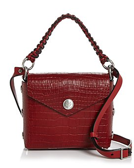 rag & bone - Atlas Mini Croc Embossed Leather Crossbody Bag