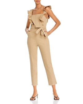 AQUA - Ruffle-Sleeve Jumpsuit - 100% Exclusive