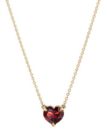 """David Yurman - Cable Heart Pendant Necklace in 18K Yellow Gold with Garnet, 18"""""""
