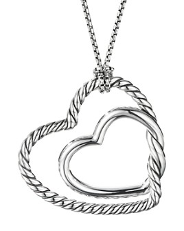 David Yurman - Sterling Silver Continuance® Heart Necklace, 36""