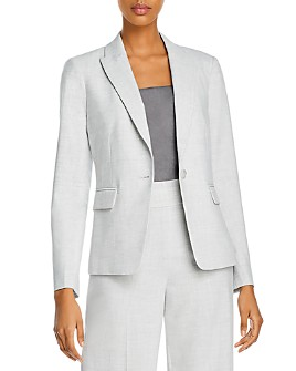 Rebecca Taylor - Long-Sleeve One-Button Blazer