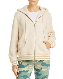 MOTHER - The Zip Up Sherpa Hoodie