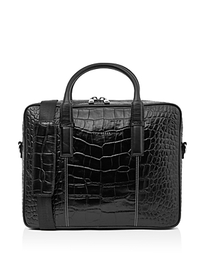 Ted Baker  NUGGET CROC-EMBOSSED LEATHER DOCUMENT BAG