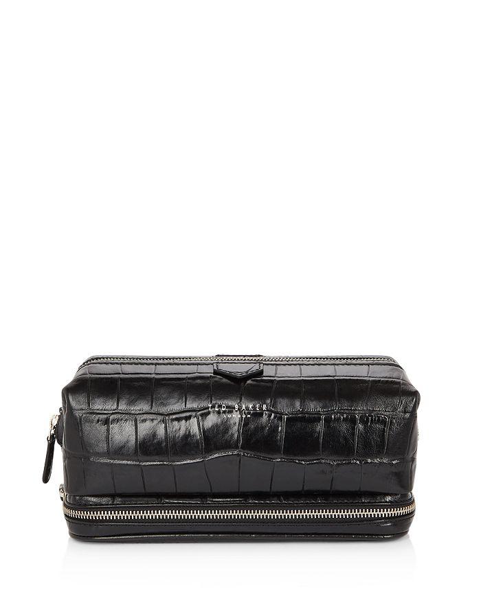 Ted Baker - Swamps Croc-Embossed Leather Washbag