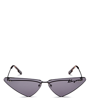 Kenzo Women\\\'s Rimless Triangle Cat Eye Sunglasses, 72mm