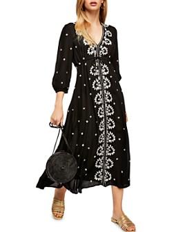 Free People - Embroidered Midi Dress