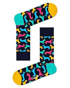 Happy Socks - Color-Blocked Dog Crew Sock