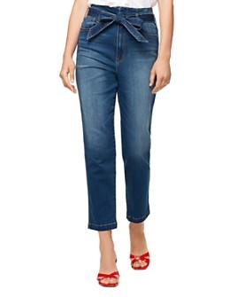 Sanctuary - Modern High-Rise Tie-Waist Jeans in Coastal Drive