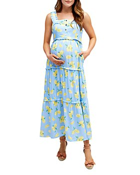 Nom Maternity - Emma Tiered Floral During & After Dress