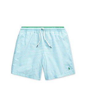 Ralph Lauren - Boys' Traveler Plaid Swim Trunks - Little Kid, Big Kid
