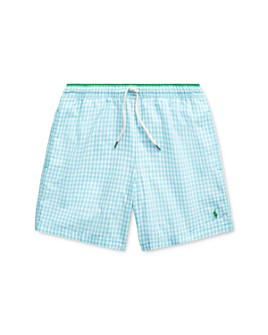 Ralph Lauren - Boys' Traveler Plaid Swim Trunks - Big Kid