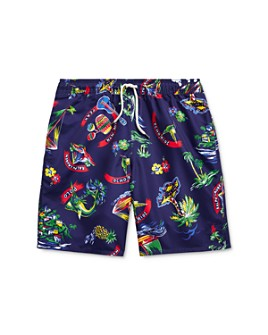 Ralph Lauren - Boys' Tropical Swim Trunks - Big Kid