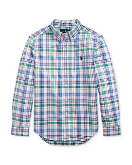 Ralph Lauren - Boys' Cotton Plaid Poplin Shirt - Big Kid